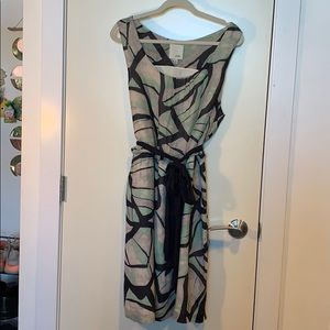 Abstract Anthropology Patterned midi dress